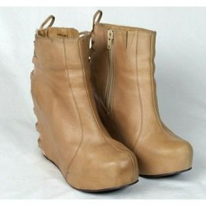 Jeffrey Campbell & LF 7 VonLace Nude Leather Boot